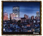 Boston Globe City Scape Tapestry
