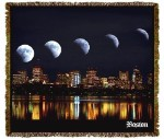 Boston Globe Moons Tapestry