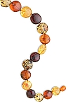"21"" Round Graduated Size Multicolor Baltic Amber Necklace"
