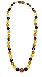 """20"""" Necklace with Graduated Faceted Multicolor Baltic Amber Beads With A FREE Set of Matching Earrings!"""