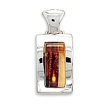"""Mosaic Multicolor Baltic Amber Pendant FREE 18"""" Rhodium Plated Light Rope Chain"""
