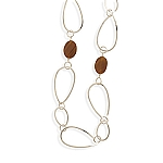 """31"""" Open Link Necklace with Carnelian With A FREE Set of Matching Earrings!"""