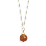 """16"""" Carnelian Necklace With A FREE Set of Matching Earrings!"""
