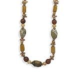 """17""""+2""""Extension Multistone and Pearl Necklace With A FREE Set of Matching Earrings!"""