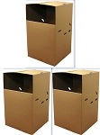 Set of 3 Wardrobe Boxes with Hanging Bar