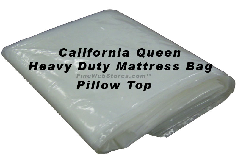 California Queen Heavy Duty Pillowtop Size Plastic