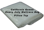 California Queen Heavy Duty Pillowtop Size Plastic Mattress Bag