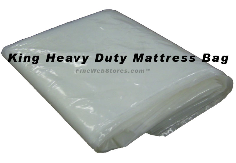 King or Queen Size Extra Heavy Duty Plastic Mattress Bag