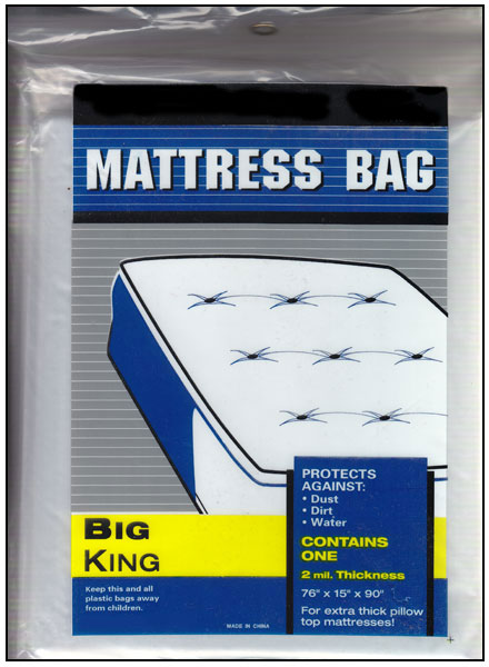 King Size Plastic Mattress Bag