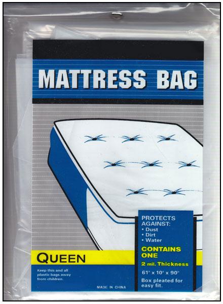 Queen Size Plastic Mattress Bag