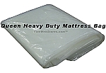 Queen Size Heavy Duty Extra Deep Plastic Mattress Bag Suitable For A Pillowtop! Perfect for moving or storage.
