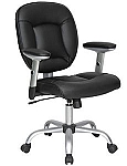 Ergonomic Padded Black Office Chair