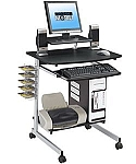 Small Espresso Multifunctional Computer Cart