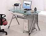 Small Glass Top Computer Desk