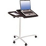 Tilting Espresso Laptop Desk
