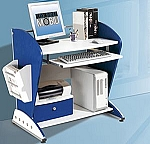 Small Kids Blue And White Computer Desk