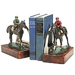 Jockey Boy And Horse Bookends