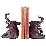 Sitting Elephant Bookends