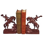 Wild Cowboy And Horse Bookends