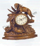 Large Bird Dog Clock