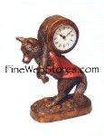 Fox Clock Antique Style