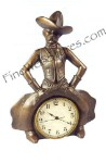 Bowlegged Cowboy Clock Antique Style