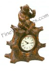 Bear With Pipe Clock Antique Style