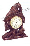 Bear Hugs Clock Antique Style