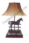 Horse With Fence Lamp