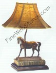English Race Horse Lamp
