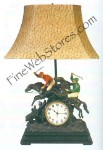 Steeplechase Clock Lamp