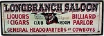 LongBranch Saloon Old West Sign