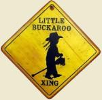 Little Buckaroo Crossing Girl Old West Sign