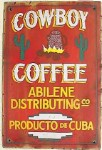 Cowboy Coffee Old West Sign