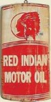 Red Indian Motor Oil Old West Sign