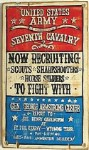 7th Cavalry Recruiting Old West Sign