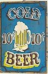 Cold Beer Old West Sign