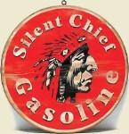 Silent Chief Gas Old West Sign