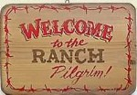 Welcome To The Ranch Old West Sign