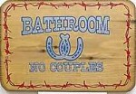 Bathroom No Couples Old West Sign