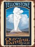 Yellowstone Old Faithful Vintage Tin Sign
