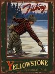 Yellowstone National Park Fishing Vintage Tin Sign