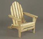 Unstained Natural Cedar Adirondack Chair