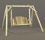 Unstained Natural Cedar American 5 Foot Garden Swing