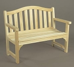Unstained Natural Cedar Camel Back Settee