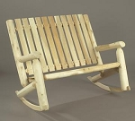 Unstained Natural Cedar Double High Back Rocker