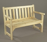 Unstained Natural Cedar English Garden Settee
