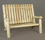 Unstained Natural Cedar High Back Settee