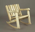 Unstained Natural Cedar Low Back Rocker Chair