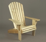 Unstained Natural Cedar Oversized Adirondack Chair
